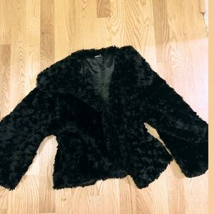 Vintage faux fur-like cropped jacket